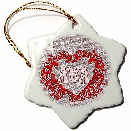 Amazon 60dRose RinaPiro Love Quotes I Love Ava Love Is Simple Love Snowflake Quotes