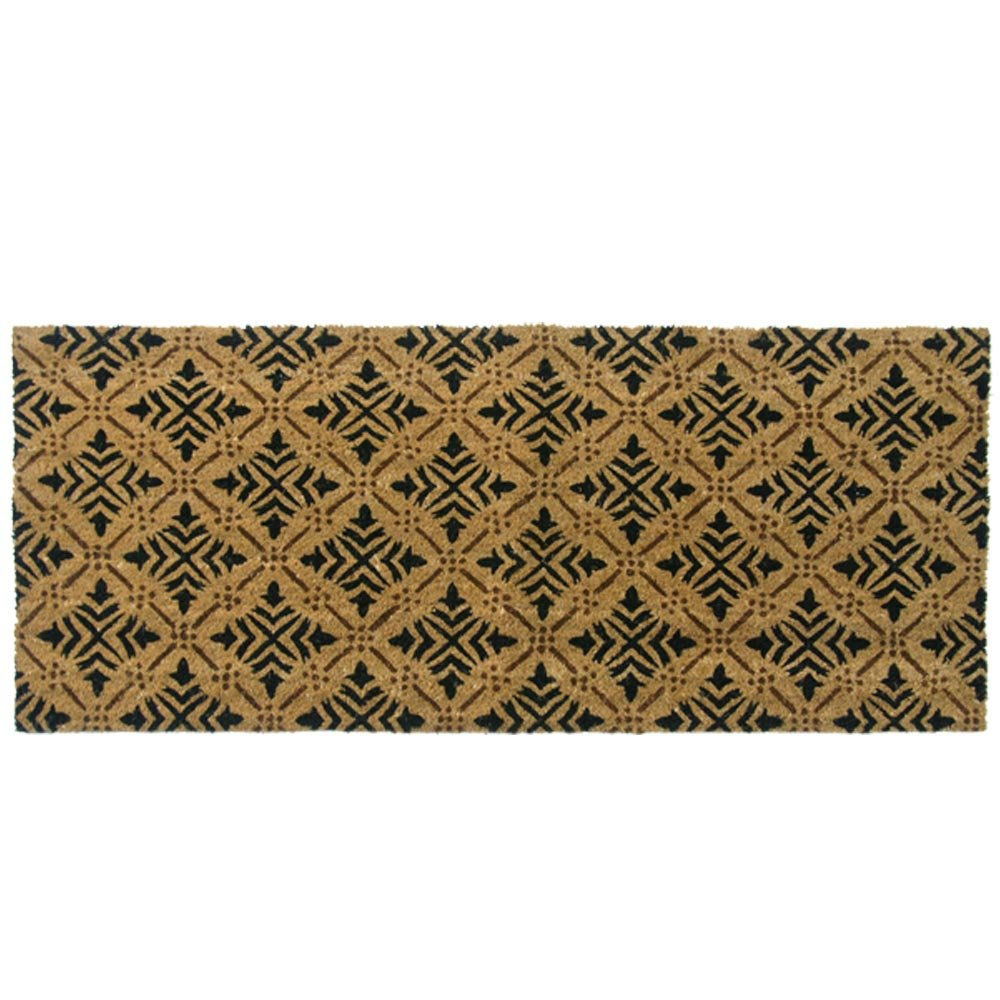 Rubber-Cal 24-Inch-by-57-Inch Classic Fleur de Lis French Matting Double Door Mat