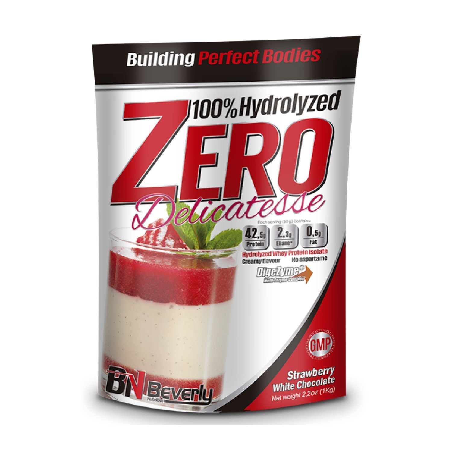 Beverly Nutrition For Absat40 Hydrolysed Whey White Chocolate with Strawberry Protein Professional Muscle Growth Mass Gainer 1kg