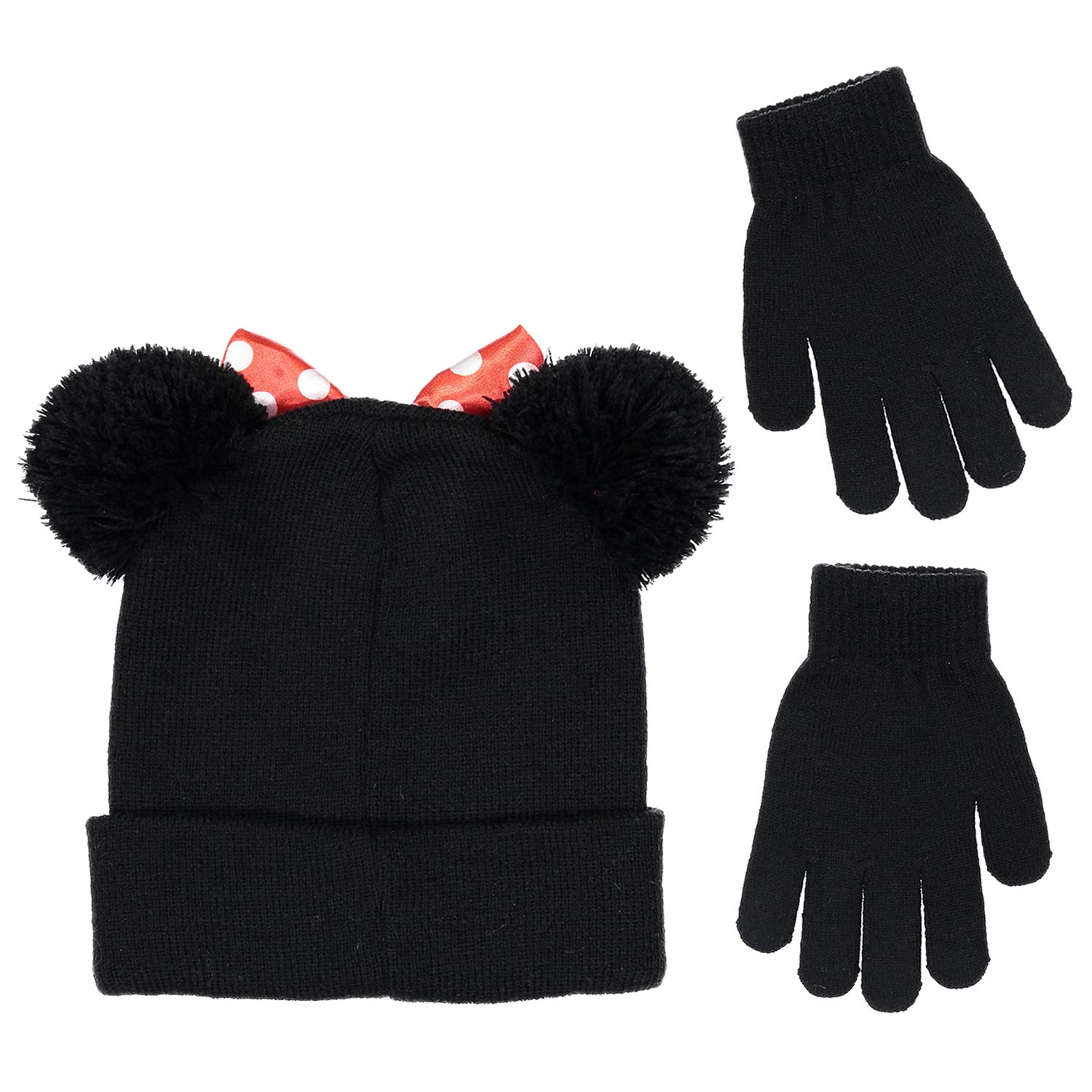8239d27e44e Amazon.com  Disney Minnie Mouse Girls Beanie Knit Winter Hat and Glove Set   4015   Clothing