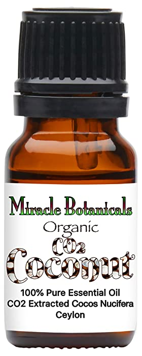 Miracle Botanicals CO2 Extracted Coconut Essential Oil - 100% Pure Cocos Nucifera - Therapeutic Grade - 5ml, 10ml or 30ml Sizes - 10ml