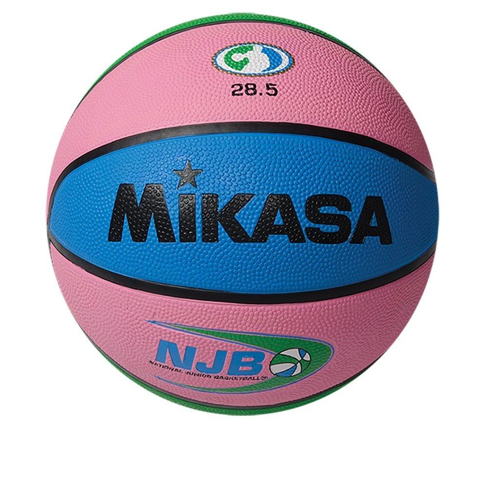 Mikasa National Junior Rubber Basketball, Pink, Size 6
