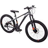 """TOUGH Handsome Fast Awesome Speed And Balance All Terrain Easy Care And Clean Reliable Huffy 24"""" Scout Boys' DARK GRAY…"""
