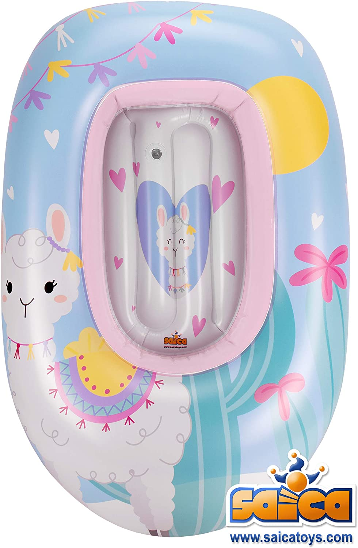 Saica Barca Hinchable para niñ@s Llama. Piscina. Colchoneta. Fun ...