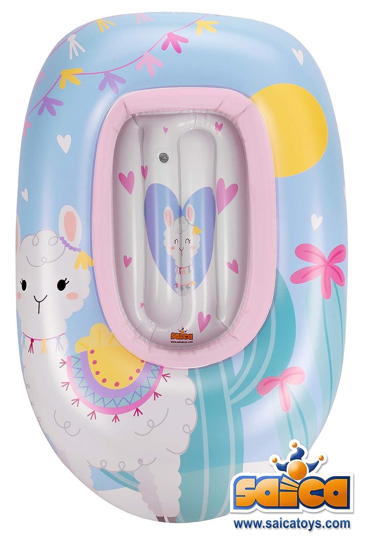 Saica- Barca Hinchable para niñ@s Llama. Piscina. Colchoneta ...