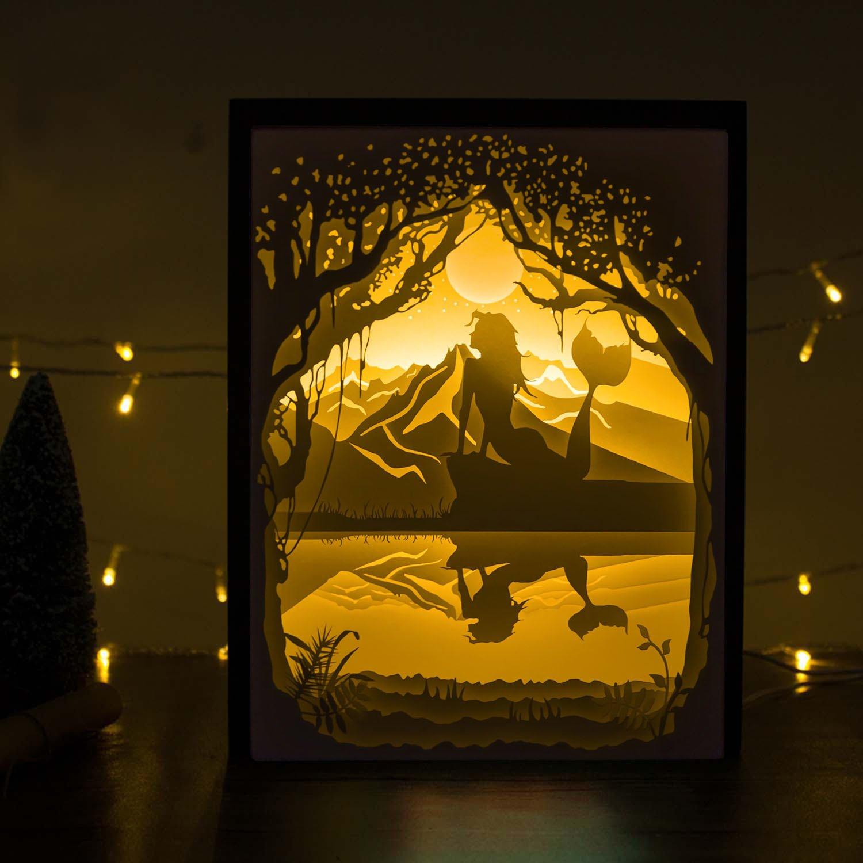Amazon.com: Papercut Light boxes, 3D Shadow Box Led light night lamp ...