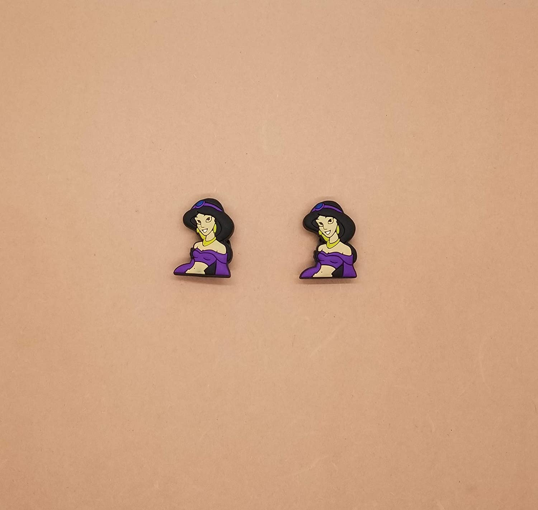 Jasmine Croc Shoe Charms Wristband Charms Shoe Lace Adapter Charms Generic Handmade Set of 2