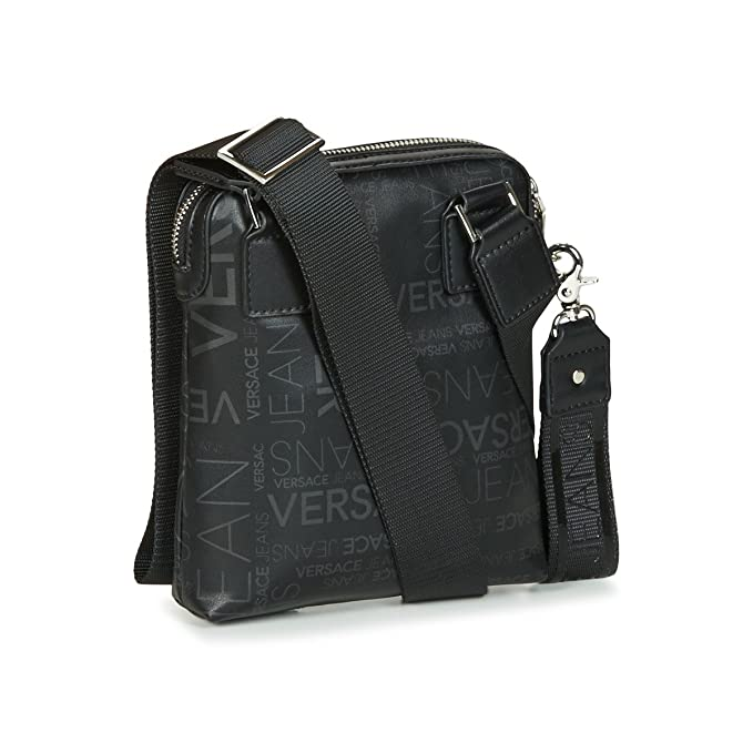 Versace Jeans Black PU Small Side Bag E1YSBB24 One Size  Amazon.co.uk   Clothing 39ad015c8e2a6