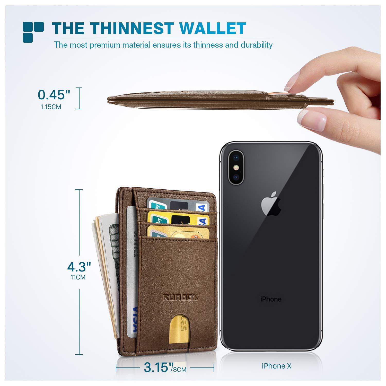 Minimalist Slim Front Pocket Wallets for Men with RFID Blocking /& Genuine Leather