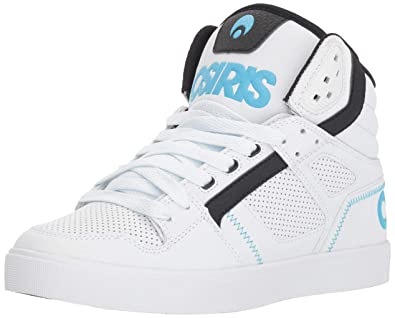 9aa7cbb6707f Osiris Women s Clone Skate Shoe White Black Light Blue 5 ...