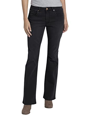 429cf441ced92 Dickies Women s Perfect Shape Denim Jean-Bootcut Stretch at Amazon ...