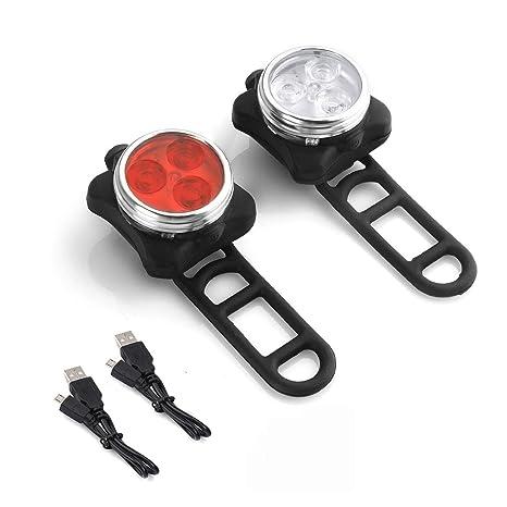 Batería LED luces de bicicleta Set, combinaciones de faro piloto ...