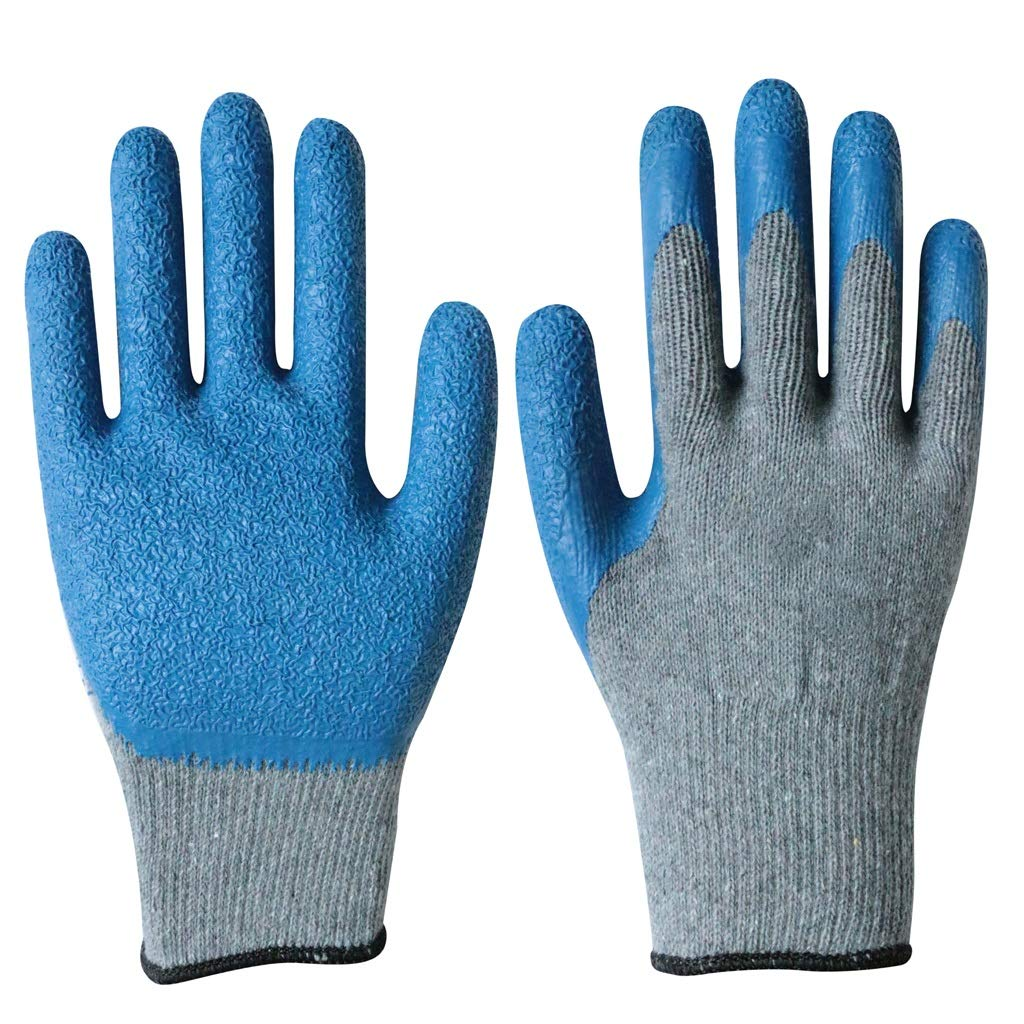 LZRZBH Work Gloves Gardening Gloves with Seamless Knit Nylon Shell, Knit Industrial Gloves, (3 Pairs Per Pack) (Color : A)