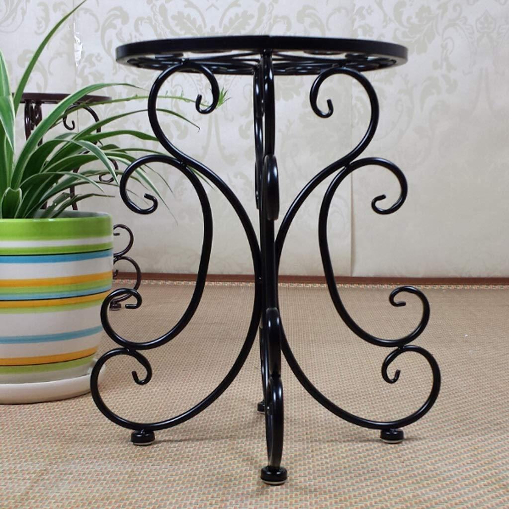CQ Flower Frame in Ferro battuto Piano Creativo Semplice Balcone Decorazione Soggiorno Vaso di Fiori Coperta (Colore   nero)
