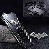 "GOODKSSOP LUXURY Batman Style Shockproof Aluminum Bumper Skin Metal Back Case Cover For Apple iPhone 7 4.7"" (For iPhone 7 4.7"")"