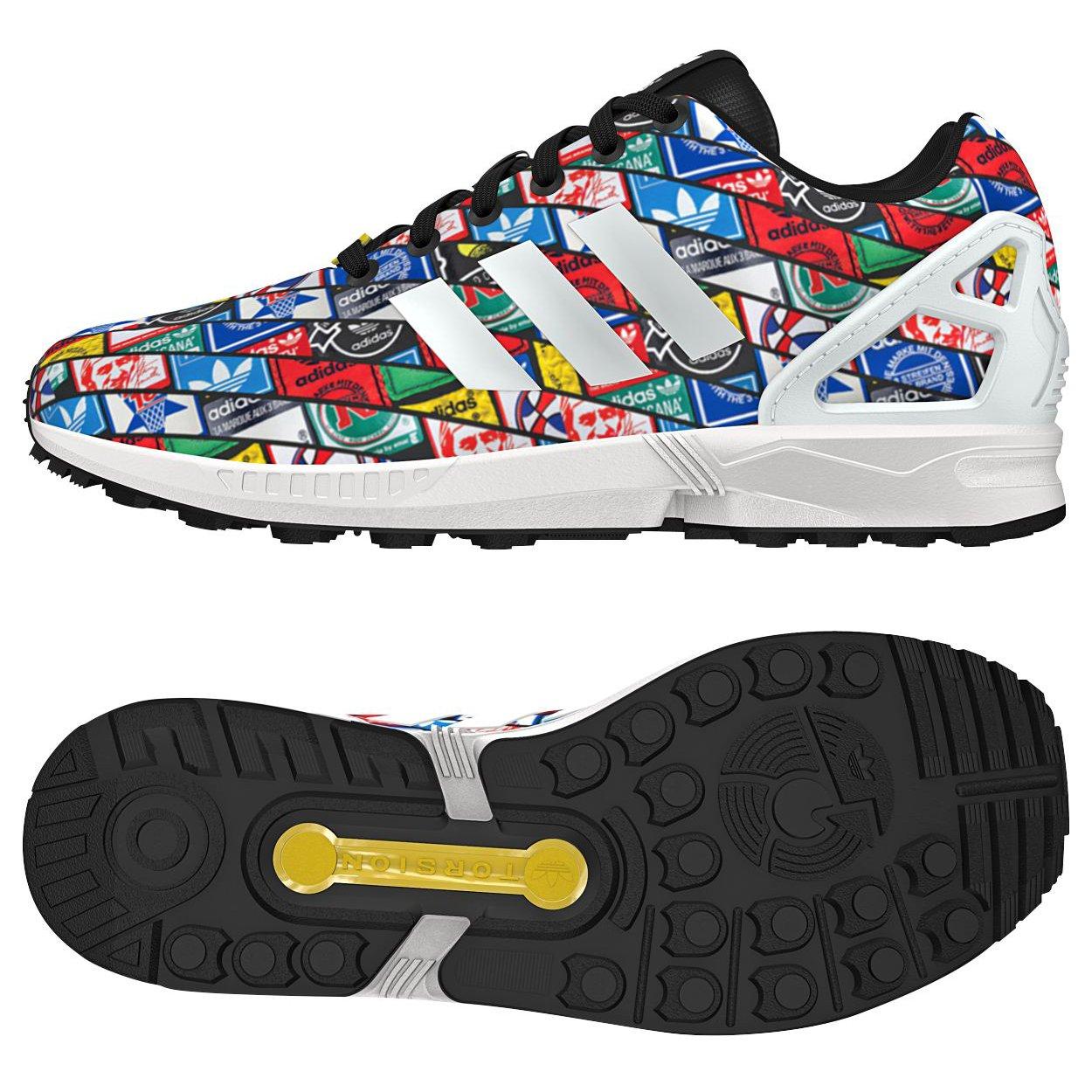 new arrival 5bd95 6a137 Galleon - Adidas Originals ZX Flux Tongue Labels B24904 ...