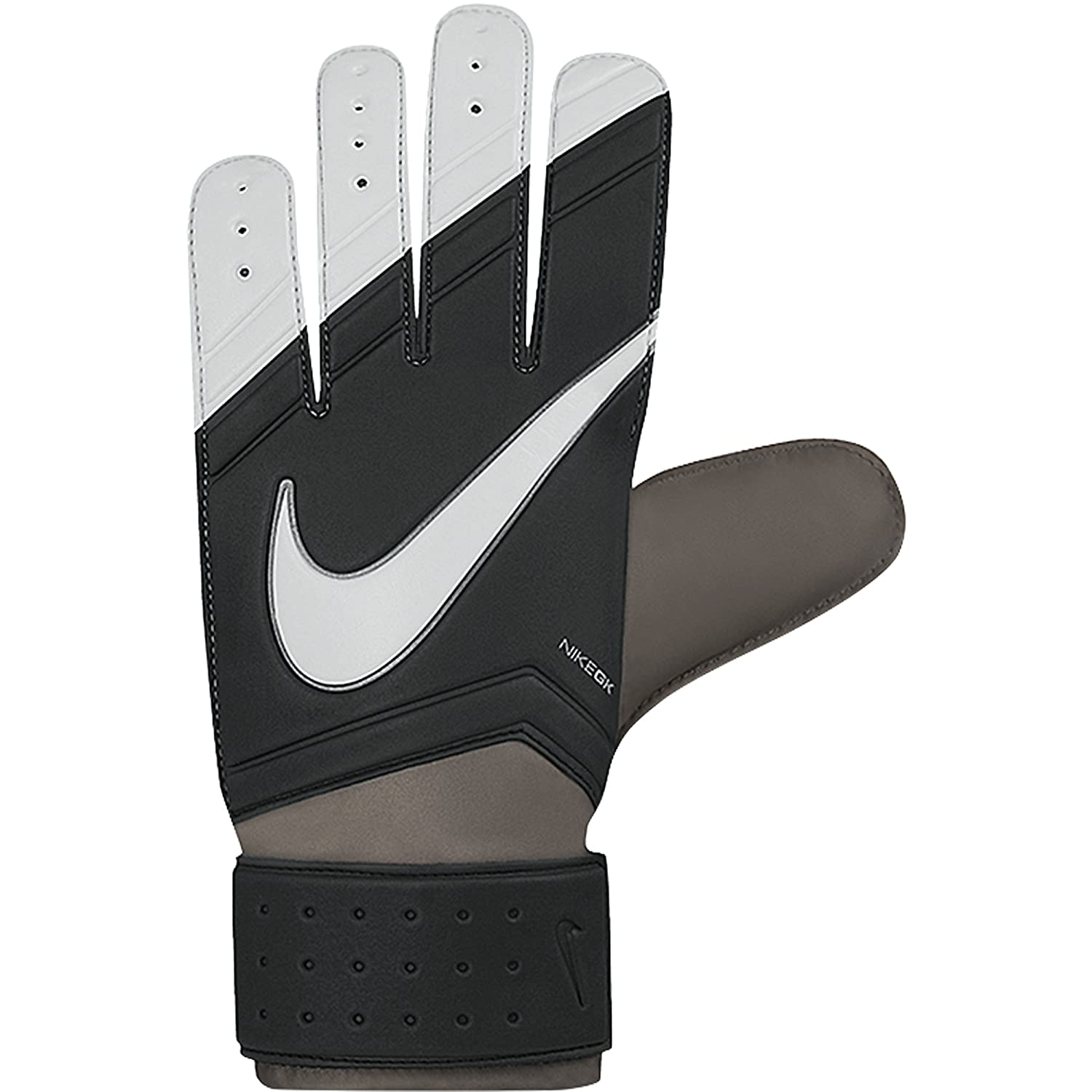 1e652bfff Amazon.com : Nike Youth Match Goalkeeper Gloves Black/White Size 3 : Sports  & Outdoors