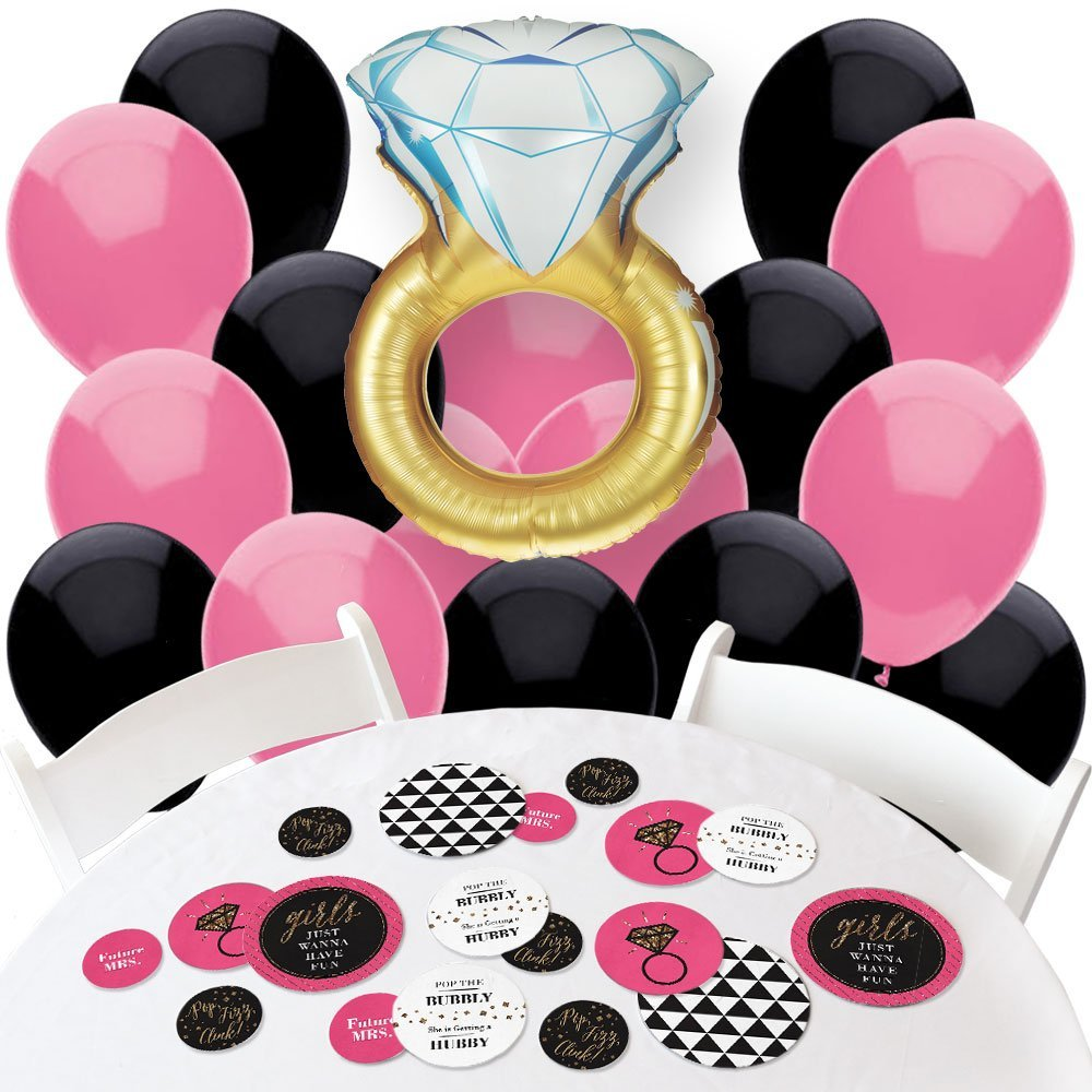 Girls Night Out - Confetti and Balloon Bachelorette Party Decorations - Combo Kit by Big Dot of Happiness