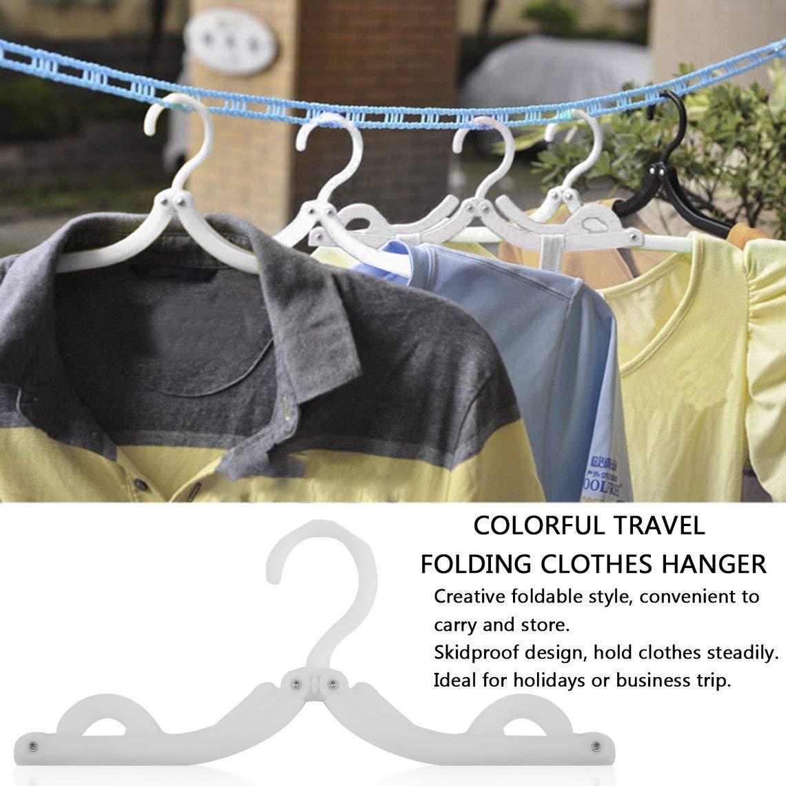 Color: Amarillo Momorain Perchero Plegable Perchero Plegable Plegable Pl/ástico para Viajes Vacaciones Durable Percha para Ropa con Estilo
