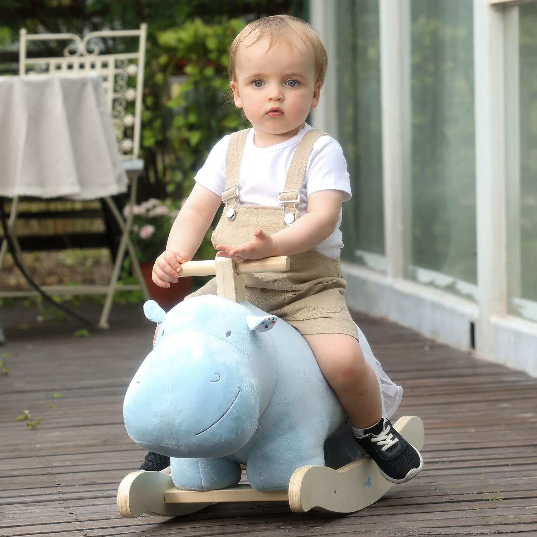 labebe Baby Rocking Horse, Wooden Plush Rocker Toy, Hippopotamus £19.99 @ Amazon