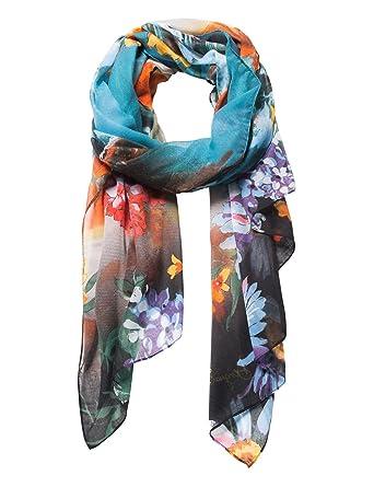 mode attrayante acheter authentique regarder Desigual foulards 18waww25 paisaje bleu