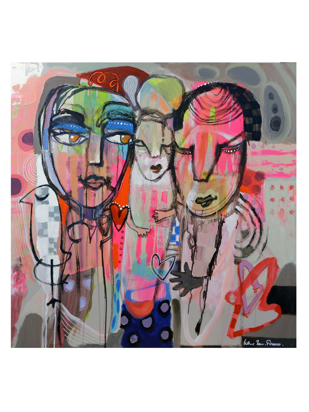 KINGS WOOD ART Family Love Edition On Canvas