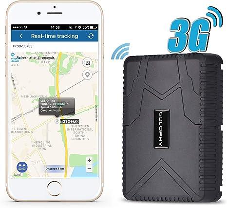 Rastreador GPS para Coche, rastreador en Tiempo Real, Dispositivo de localización de Voz, Monitor para Coche, camión, vehículo, Furgoneta, imán Fuerte, Resistente al Agua 10000 mAh: Amazon.es: Electrónica