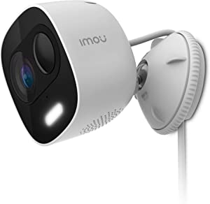 Outdoor Security Camera Wi-Fi 1080P Night Vision Proactive Deterrence Surveillance Camera with Siren and LED Spotlight, PIR Motion Detection, Weatherproof IP65, Two-Way Audio, Imou LOOC