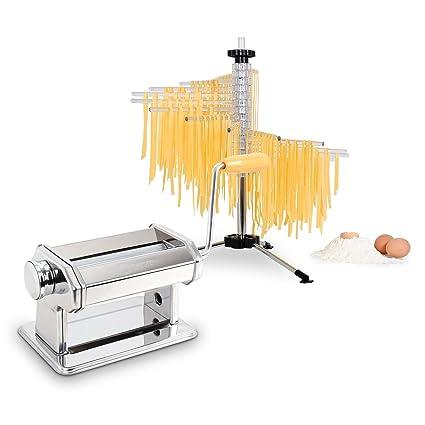 Klarstein Pasta Maker máquina para pasta (acero inoxidable, rodillo amasador, fácil de limpiar