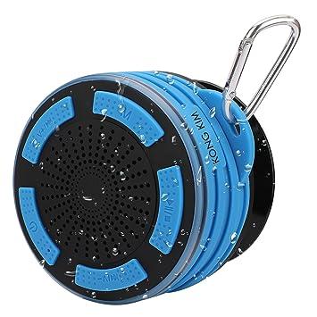 ... a Prueba de Golpes portátil pequeño Altavoz Bluetooth estéreo de Graves Profundos con micrófono LED Luces y Desmontable Ventosa: Amazon.es: Electrónica
