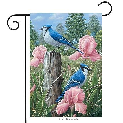 "Bluebird /& House Spring Garden Flag Bird Flower Decorative Banner 13/"" x 18/"""