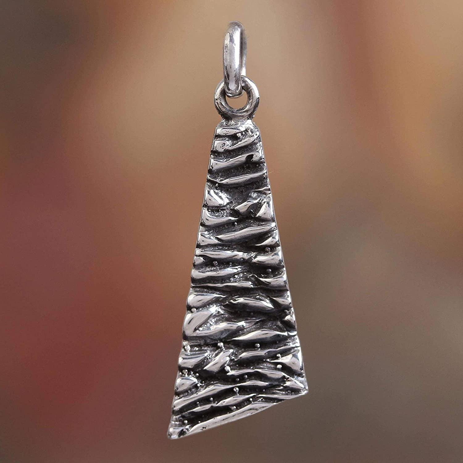 NOVICA .925 Sterling Silver Individual Pendant Taxco Texture