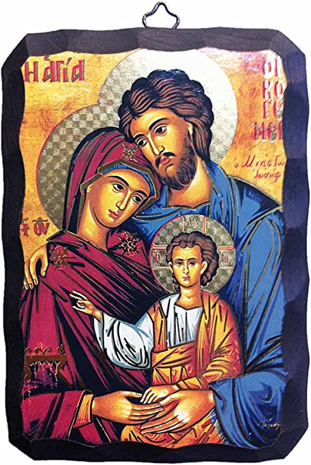 Libreriadelsantoit Icona Sacra Famiglia Bizantina 10x15 Amazon