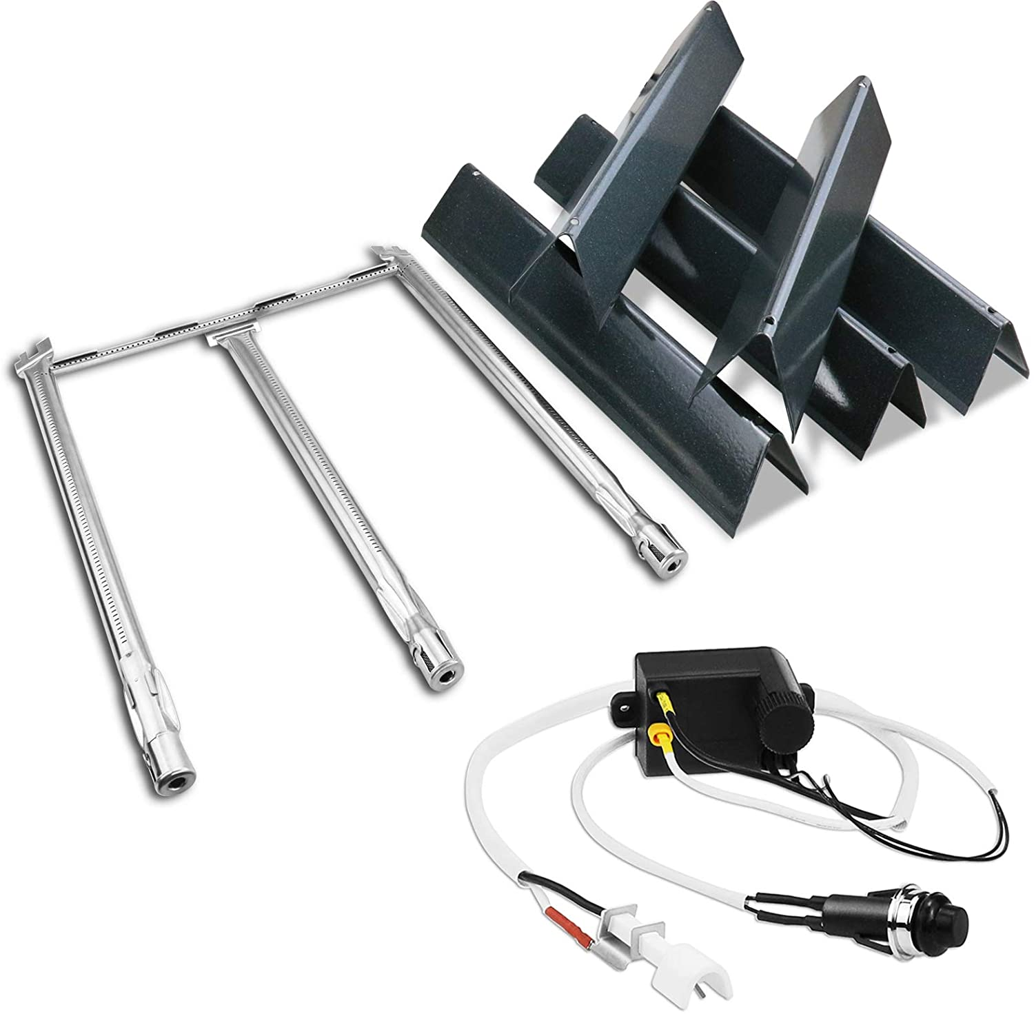 Utheer 7636 Flavor Bars 15.3 Inches 69787 Burner Tube 18 Inches and Ignitor Wire Kit /& Ignition Electrode for Weber Spirit 300 Series Spirit E310 S310 E320 S320 E//S330 with Front Mounted Control