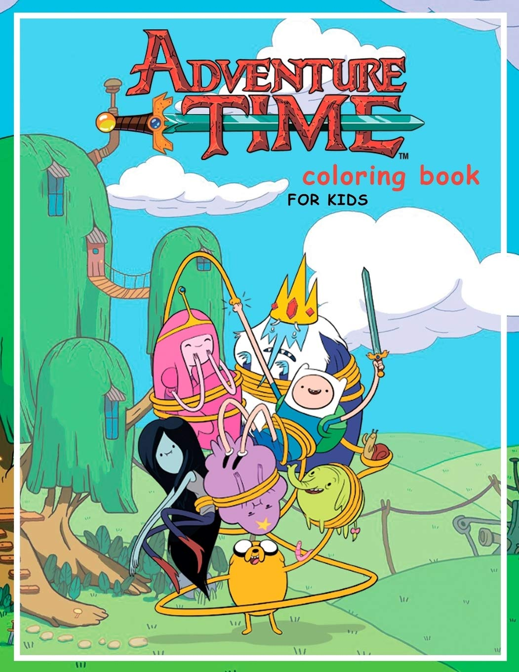 - Adventure Time Coloring Book For Kids: 20 Coloring Pages Of Your