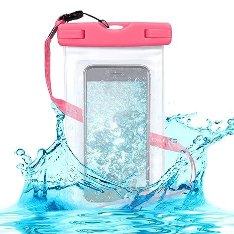 outlet fba8b 8195a kwmobile, Borsa impermeabile da spiaggia per smartphone, Protezione acqua e  sabbia, Fucsia/Trasparente, 17 x 10 cm