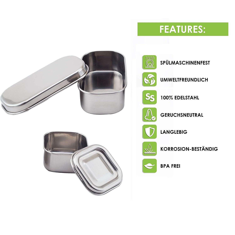 certificazione T/ÜV in acciaio inox senza BPA Lunchbox e contenitore per il pranzo Sattvii/®