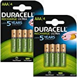 8X Duracell Stay Charged Pre Charged Ready To Use Rechargeable NiMH Battery Pack of 8, 850 mAh 1.2 V AAA
