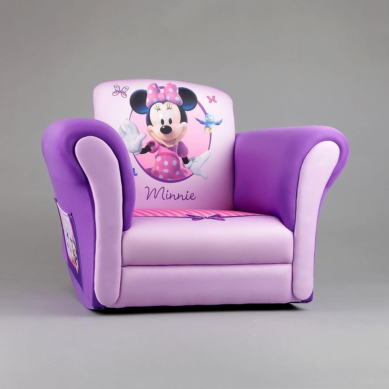 Minnie Mouse Upholstered Rocking Chair Purple Girls Disney Rocker