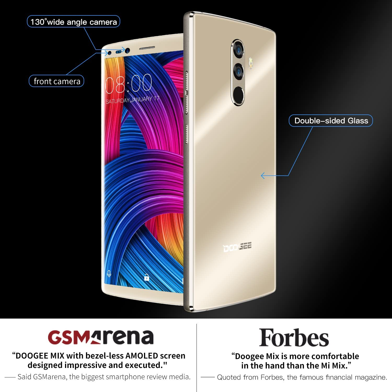 Moviles Libres, DOOGEE Mix 2 Smartphone Libre, 4G Android 7.1 Telefonos (5.99