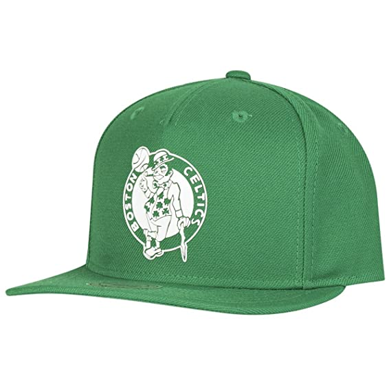 Image Unavailable. Image not available for. Colour  Mitchell   Ness Raised  Perimeter Celtics Cap ... 4ad0a16099b