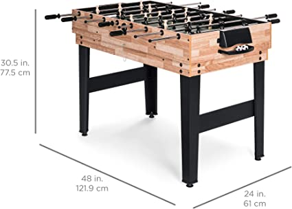 Best Choice Products Juego de mesa de juego intercambiable de 2 x 4 pies 10 en 1 con billar, futbolín, ping pong, hockey de empuje, ajedrez, damas, bolos, shuffleboard, backgammon, tarjetas: Amazon.es: