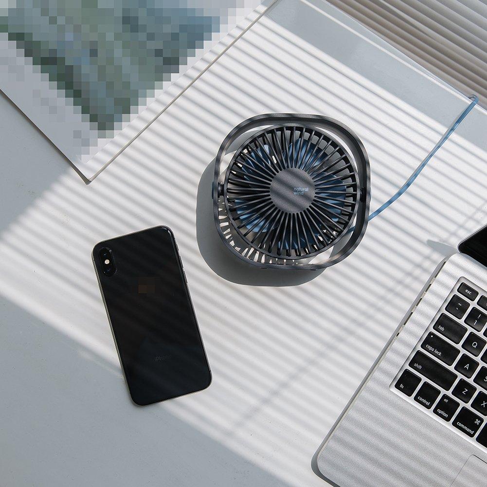 AmuseNd USB Personal Fan, USB Power Fan Ultra-Quiet Design Third Gear Speed Mini Fan for Office Desktop by AmuseNd (Image #4)