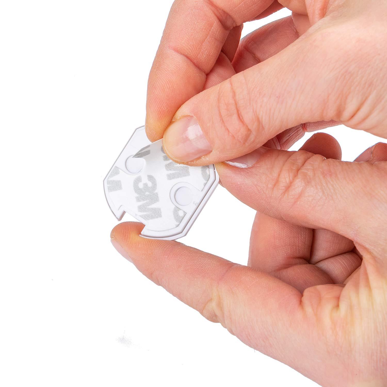 selbstklebende Kindersicherung Steckdose Steckdosenschutz mit Drehmechanik und integrierter Klebefl/äche schnelle und einfache Montage 11x Steckdosen Kindersicherung von Avantina/®