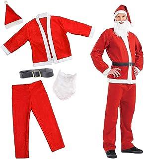 Smiffys-20841L Santa Disfraz de Papá Noel, con Chaqueta, pantalón ...