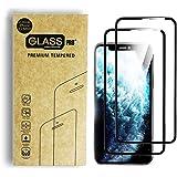 Paquete de 2 Micas de Vidrio Cristal Templado para iPhone XS Max que Protege de Golpes y Rayones con Borde Negro y…