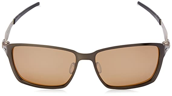 Oakley Herren Tincan Rechteckig Sonnenbrille, Matte Black/Dark Bronze (S3)