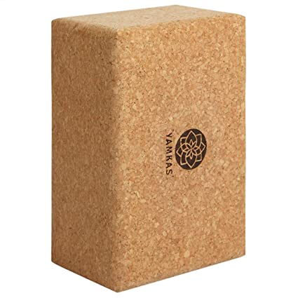 Yamkas Bloque Yoga Corcho | Yoga Block Cork Ecológica | Bloques para Ejercicio y Pilates | Ladrillo Yoga Natural Made in Portugal