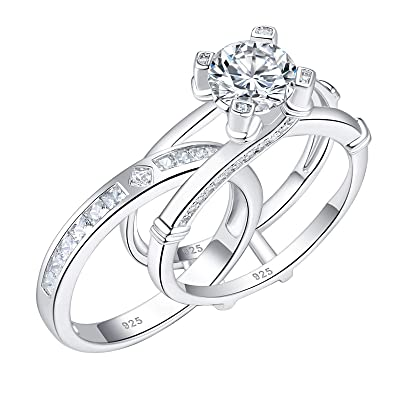 Solitaire Ring Proposal Ring Wedding Ring Christmas Gift For Her Round Ring Engagement Ring Split Shank Ring 10KT White Gold Ring
