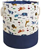 HIYAGON Storage Baskets,Cotton Fabric Laundry Hamper,Collapsible & Convenient Home Organizer Containers for Kids Toys…